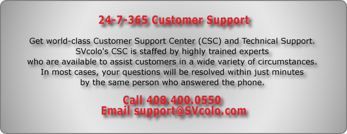 SVCOLO 24-7-365 Customer Support